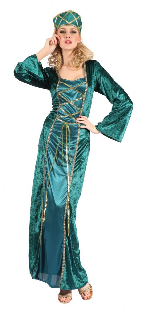 Ladies Fantasy Queen Costume Sexy Adult Role Play Fancy Dress Outfit